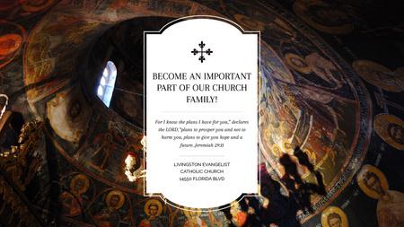 Modèle de visuel Church Invitation Old Cathedral View - Title