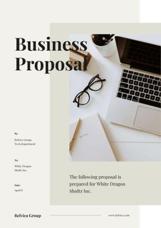 Plantilla de diseño de Business Project Management offer Proposal