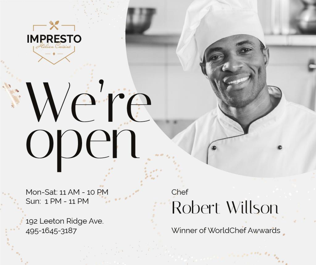 Restaurant Promotion Chef in White Toque — Crear un diseño