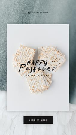 Happy Passover Unleavened Bread Instagram Video Story Modelo de Design