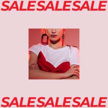 Women's Day Sale Girl with Stylish earrings
