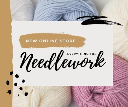Designvorlage New Online Store for Needlework für Facebook