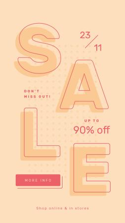 Designvorlage Sale Ad Simple geometric pattern für Instagram Story