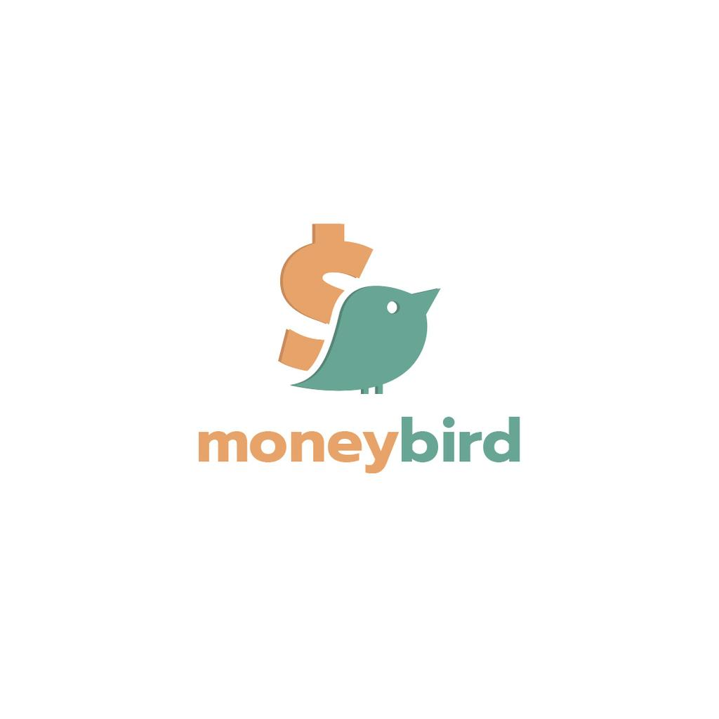 Banking Services Ad with Bird and Dollar Sign —デザインを作成する