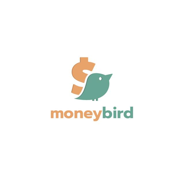 Banking Services Ad with Bird and Dollar Sign Logo – шаблон для дизайна