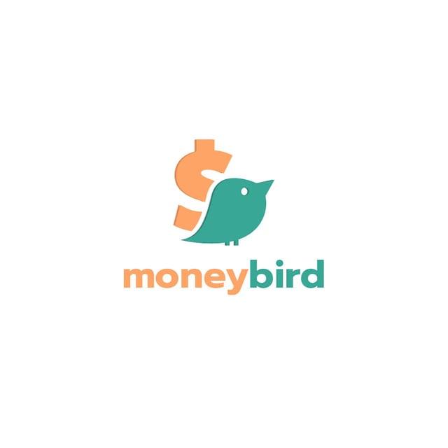 Designvorlage Banking Services Ad with Bird and Dollar Sign für Logo