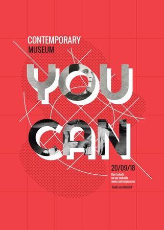 Contemporary museum exhibition poster Flayerデザインテンプレート
