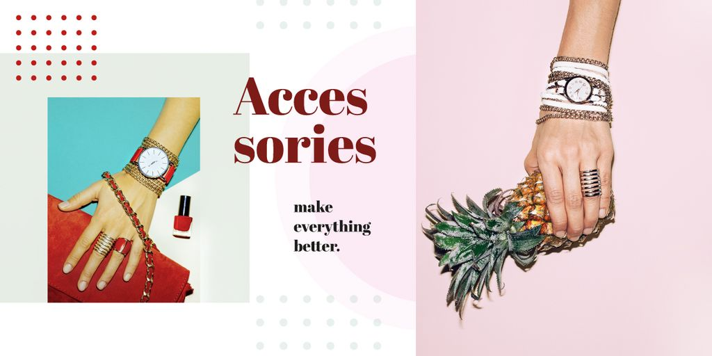 Female hand in shiny accessories holding pineapple — Create a Design