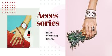 Female hand in shiny accessories holding pineapple
