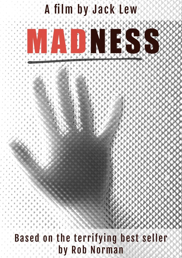 madness film poster poster template design online crello