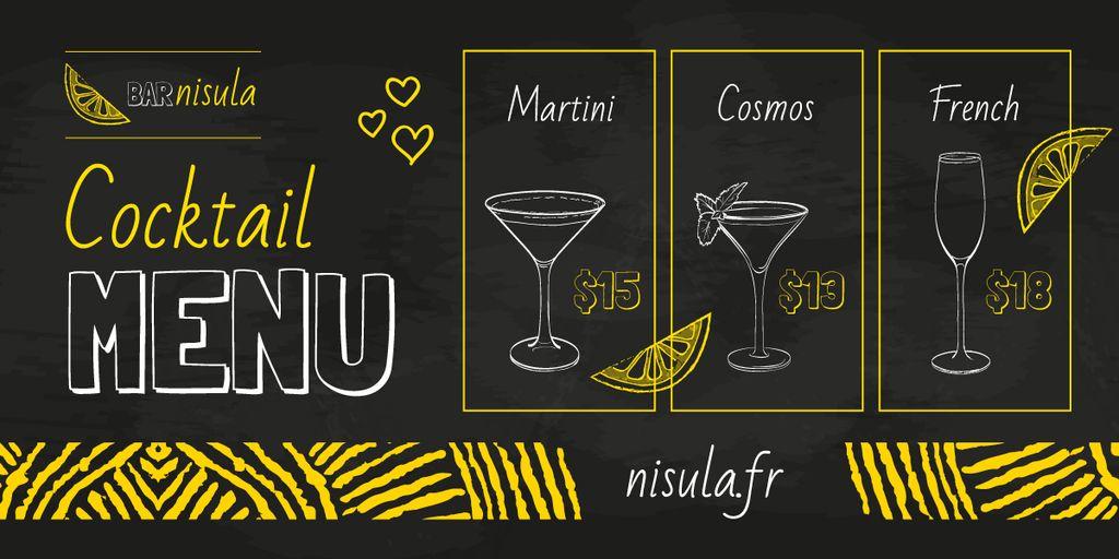Cocktail Menu Offer | Blog Header — ein Design erstellen