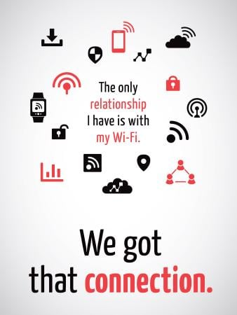 Plantilla de diseño de Wi-Fi technology sign and icons Poster US