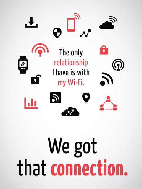 Plantilla de diseño de Wi-Fi technology sign and icons Poster US
