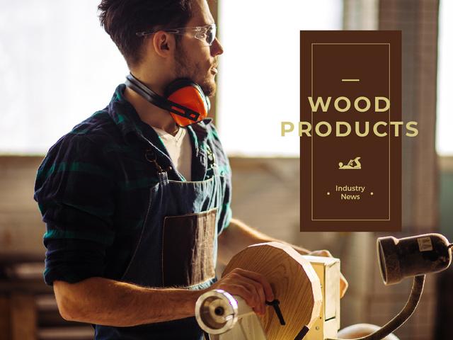 Szablon projektu Man in craft workshop Presentation