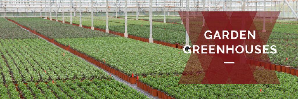 commercial garden greenhouses poster — ein Design erstellen