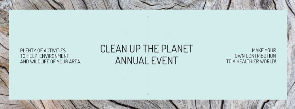 Clean up the Planet Annual event —デザインを作成する