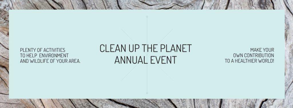 Clean up the Planet Annual event Facebook cover Modelo de Design