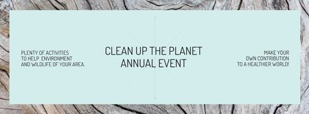 Modèle de visuel Clean up the Planet Annual event - Facebook cover