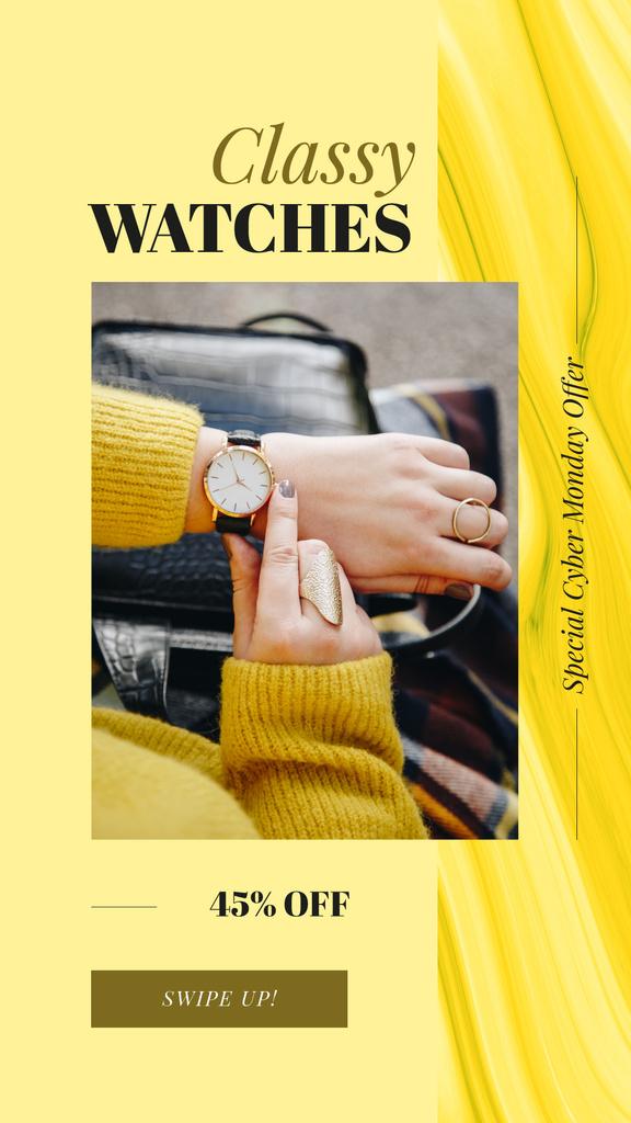 Watch on female wrist — Créer un visuel