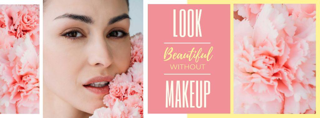 Beauty Inspiration Young Girl without makeup — Créer un visuel