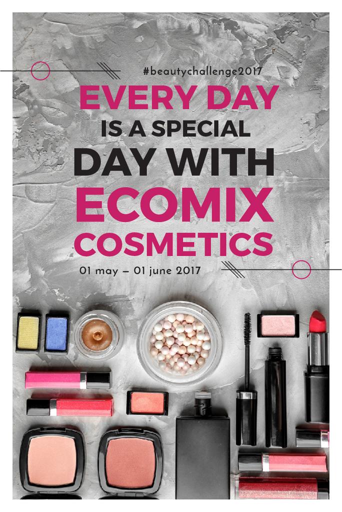 Ecomix cosmetics poster — Maak een ontwerp