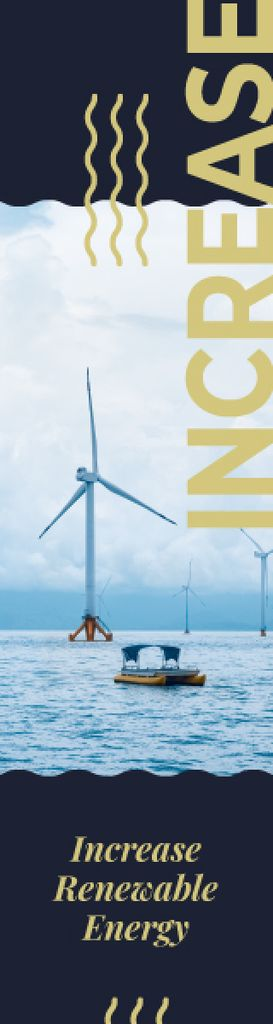 Renewable Energy Wind Turbines Farm | Wide Skyscraper Template — Créer un visuel