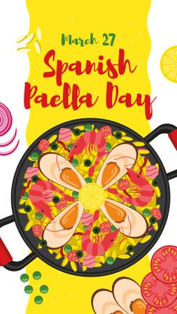 Spanish Paella Day dish Instagram Story Design Template