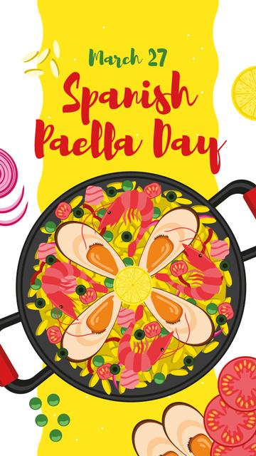 Plantilla de diseño de Spanish Paella Day dish Instagram Story
