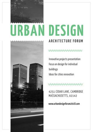 Plantilla de diseño de Urban Design architecture forum Poster
