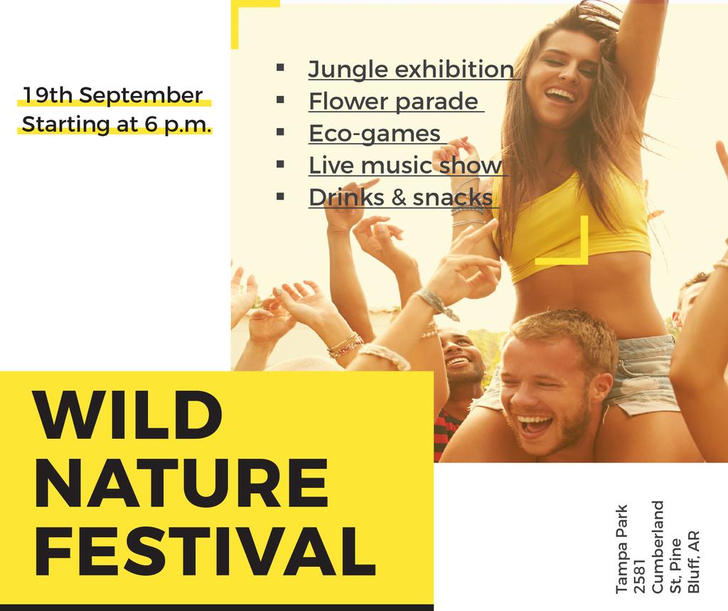 Music Festival Invitation Young People Dancing | Facebook Post Template — Maak een ontwerp