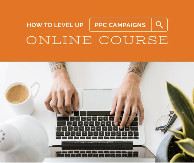 Plantilla de diseño de Online Course Ad Hands Typing on Laptop Facebook