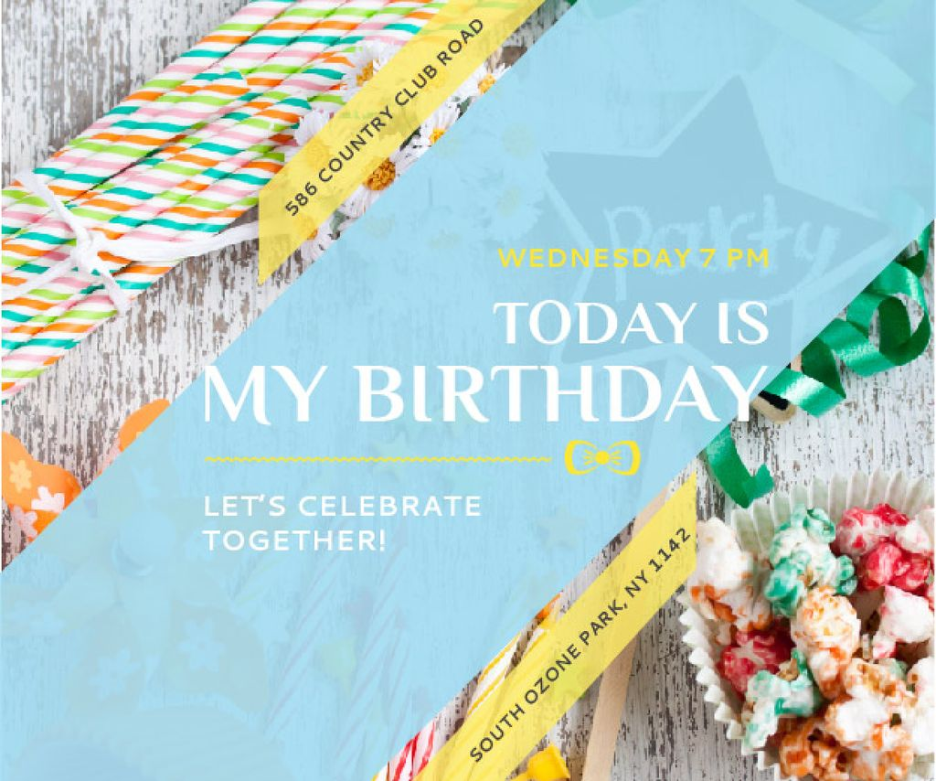 Birthday party in South Ozone park — Crea un design