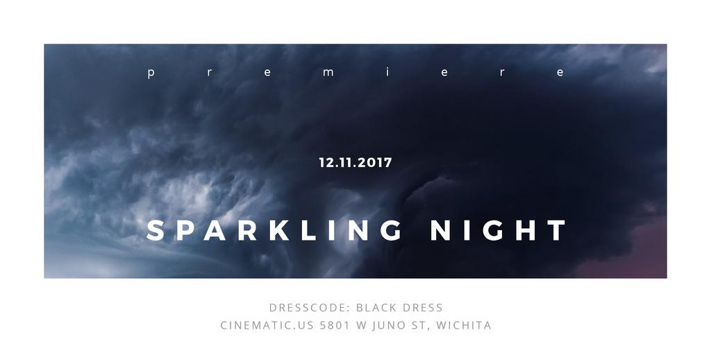 Sparkling night event — Create a Design