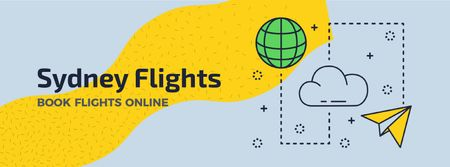 Sydney Flights Book Flights Online Facebook Video cover Modelo de Design