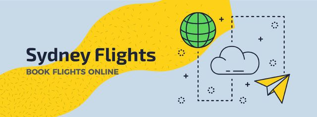Sydney Flights Book Flights Online Facebook Video cover Tasarım Şablonu
