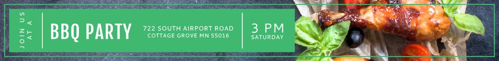 BBQ Party Invitation Grilled Chicken Leaderboard – шаблон для дизайна