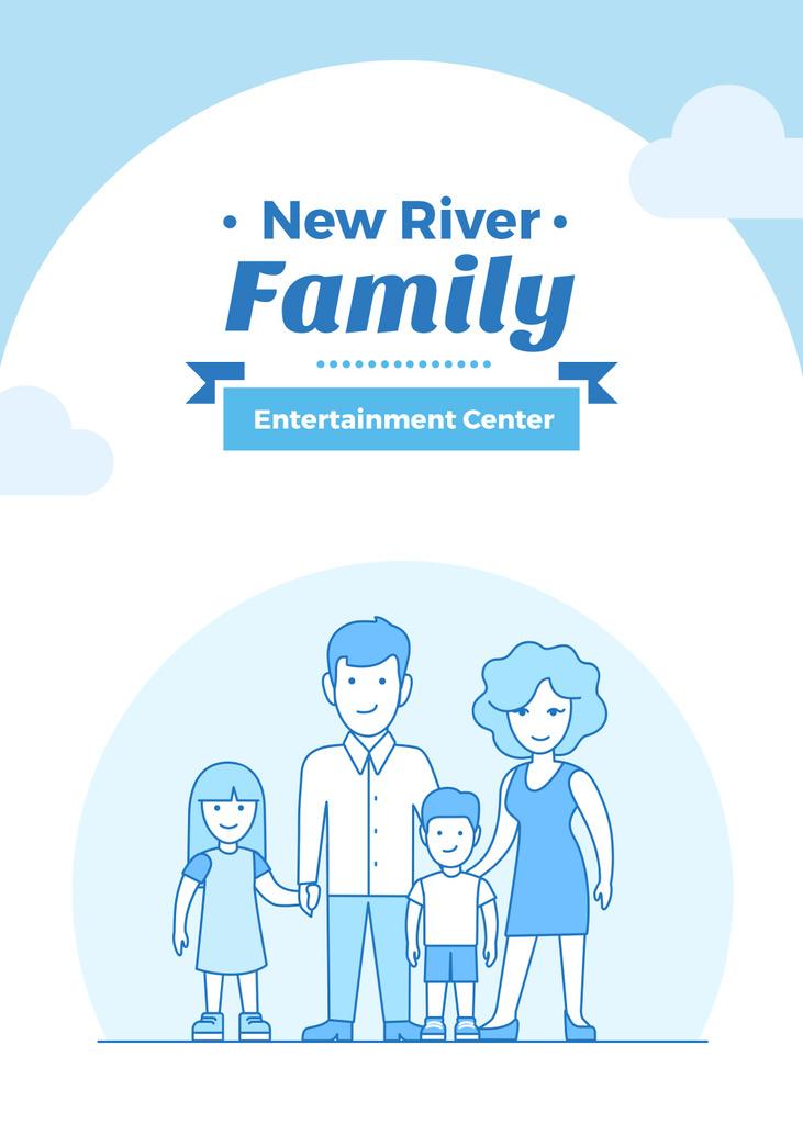 Happy Parents with Kids for entertainment center — Crear un diseño