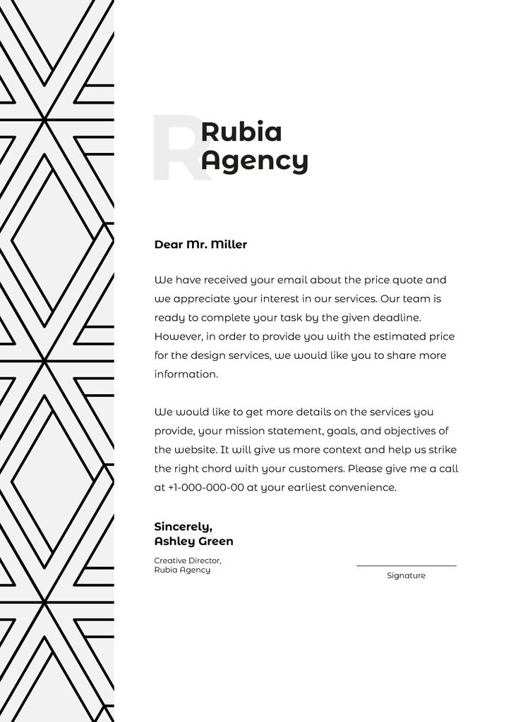 Business Agency official request — Crear un diseño
