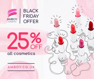 Black Friday Cosmetics Sale Lipsticks in Pink