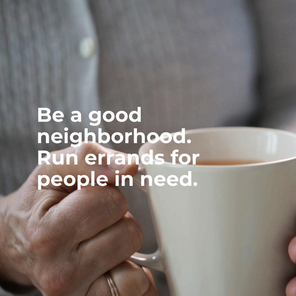 Citation about neighborhood with Old Woman — Maak een ontwerp