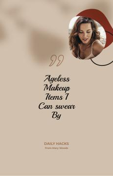 Makeup Ad with attractive Woman