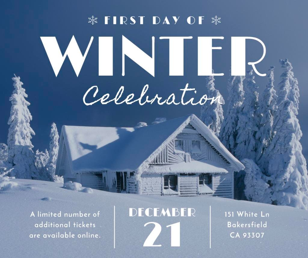 Advertisement poster of first day of winter celebration  — Create a Design