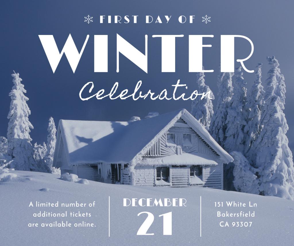 Advertisement poster of first day of winter celebration  — Maak een ontwerp
