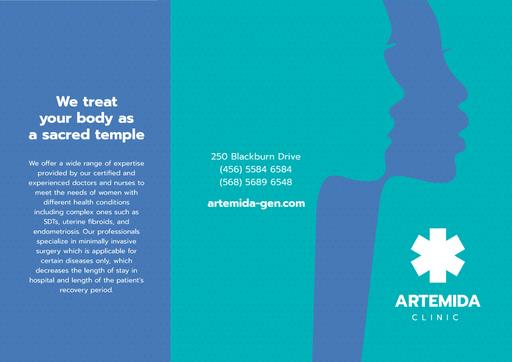 Clinic Ad With Women's Silhouettes Brochure