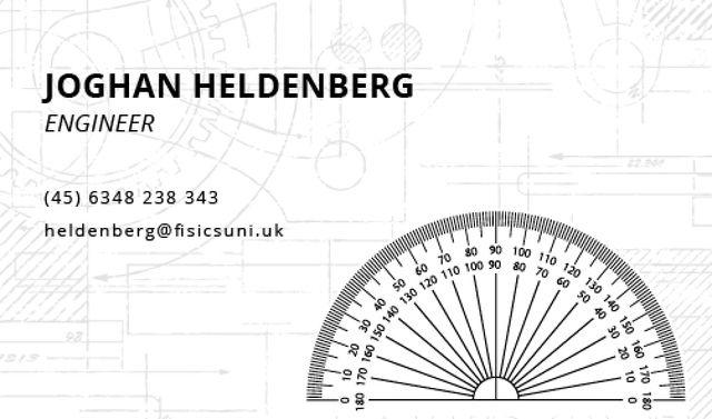 Engineer Services Offer Business card Modelo de Design