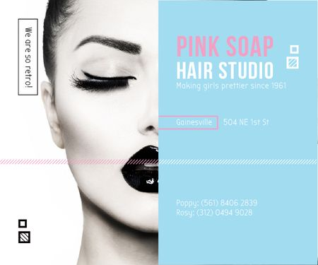 Ontwerpsjabloon van Medium Rectangle van Pink Soap Hair Studio