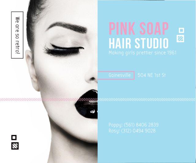 Pink Soap Hair Studio Medium Rectangle Modelo de Design