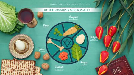Template di design Happy Passover dinner table Full HD video