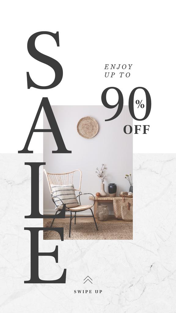 Cyber Monday Sale Cozy interior in grey color — Crear un diseño