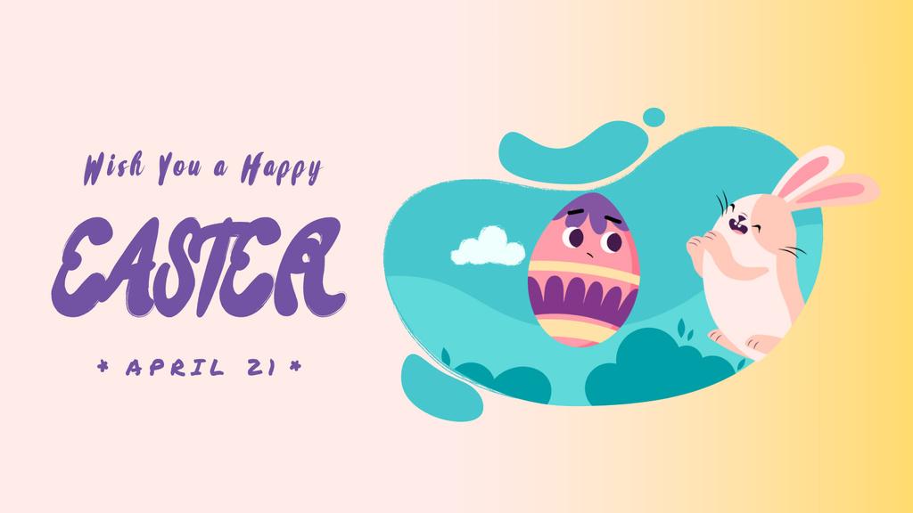 Easter Bunny catching Egg — Créer un visuel